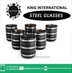 Black Glasses/Tumbler Set of 6 pcs