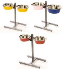 Adjustable H base w coloured Bowls