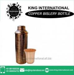 Handmade Wholesale Clear Glass Oil Bislery Bottle