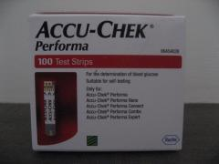Accu Chek Performa Pack of 100 Strips - Expiry