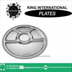 Good quality stainless steel dinner plate