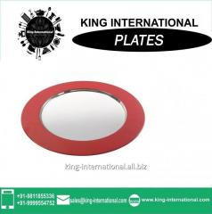 Deep stainless steel round Mess plate