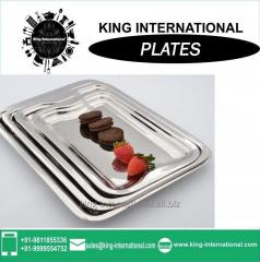 Stainless steel serving tray with Mess Plate