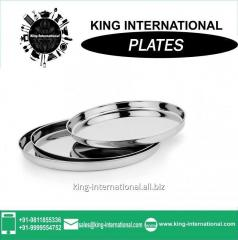 22 cm Stainless Steel wedding Mess plates