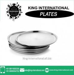 Steel plate wedding beaded Mess plate