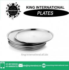 24cm stainless steel Mess  plates wholesale