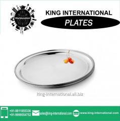 26-30cm Round Restaurant Stainless Steel Plate