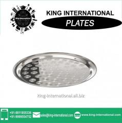 Plate, steel Mess  tray, decorative plate