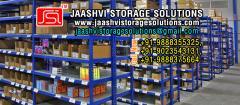 Industrial storage racks trolleys slotted angle racks