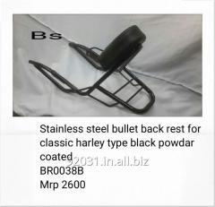 Stainless steel bullet back rest
