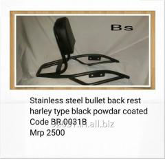 Stainless steel bullet back rest BR.0031