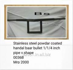 Stainless steel powdar coated handal baar