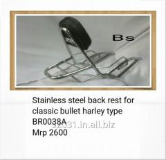 Stainless steel back rest for classic bullet