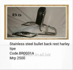 Stainless steel bullet back rest BRO031A