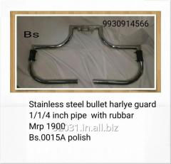 Stainless steel bullet harlye guard 1/1/4 inch pipe