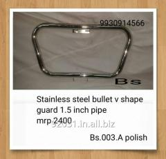 Stainless steel bullet v shape guard 1.5 inch pipe