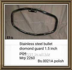 Stainless steel bullet diomond guard 1.5 inch pipe