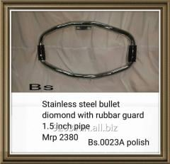 Stainless steel bullet diomond with rubbar guard 1.5 inch pipe