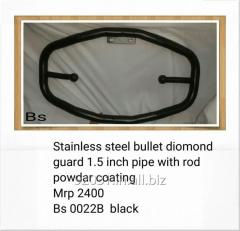 Stainless steel bullet diomond guard 1.5 inch pipe Bs 0022B black
