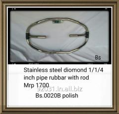 Stainless steel diomond 1/1/4 inch pipe rubbar with rod