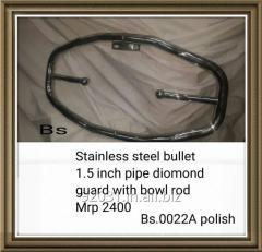 Stainless steel bullet 1.5 inch pipe diomond guard with bowl rod