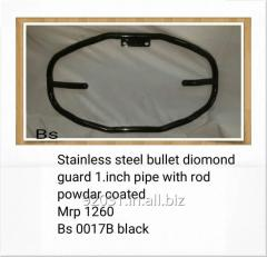 Stainless steel bullet diomond guard 1.inch pipe with rod powdar coated