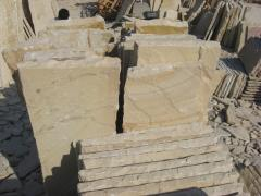 Mint sandstone paving slabs tiles