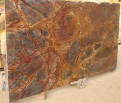 Rainforest Brown Bidasar Brown marble slabs tiles