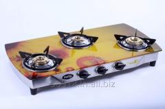 3 Burner stove Glass Top Gas Stove