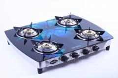 4 Burner stove Glass Top Gas Stove