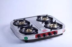 4 Burner stove Stainless Steel Gas Stove Oval