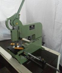 Hand operated Punch Press for punching holes in metal
