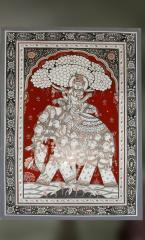 Rasaleela: Krishna SittIng Atop an Elephant Made of Gopis