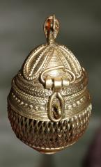 The Round Jewellery Box - Dhokra Art