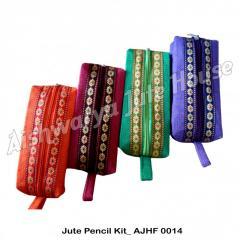 Jute pencil pouches