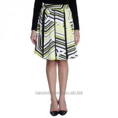 Contrast Color Pleated Skirt