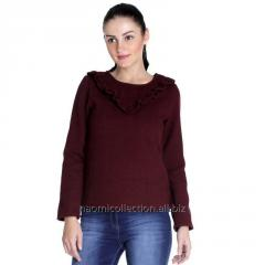 Frilly Neck Pullover