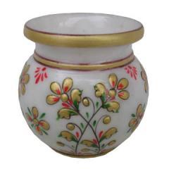 Marble lotta flower gold work