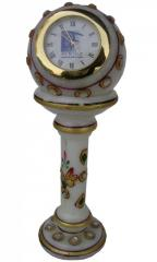 Marble pedestal clock