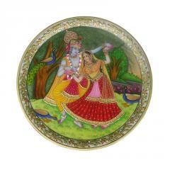 Marble plate Radha Krishna