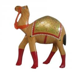 Wooden camel colourful