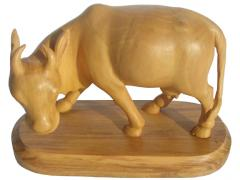 Wooden Cow  with base
