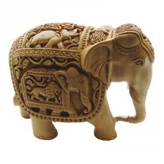 Wooden curved  Elephant