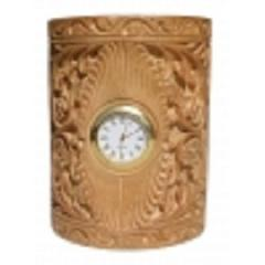 Wooden curved pen Holder cum watch