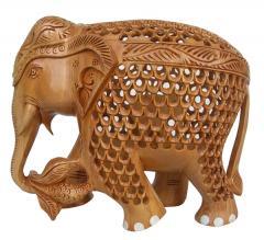 Wooden Elephant Jali 6 inch