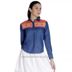 Denim Ethnic Shirt