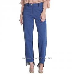 Two Color High Low Jeans