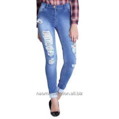 Destroyed Bottom Fold Jeans