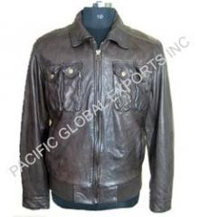 Slim Fit Men Leather Jacket