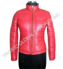 Zipper Quilted Leather Jackets
